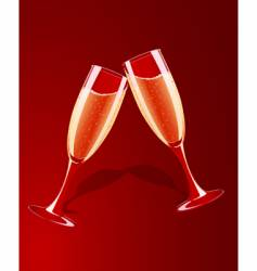 illustration of champagne glasses vector image vector image