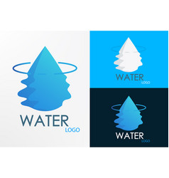 logo water half wave vector image