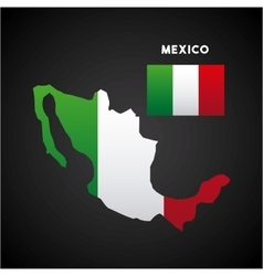 mexico country map vector image vector image
