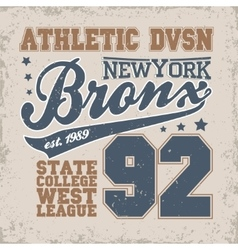New York Bronks t-shirt graphics vector image vector image