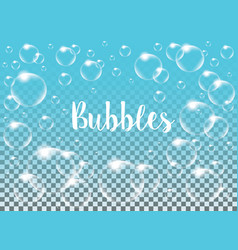 realistic isolated soap bubbles vector image