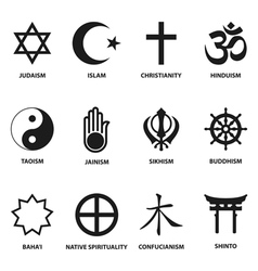 religious sign and symbols vector image