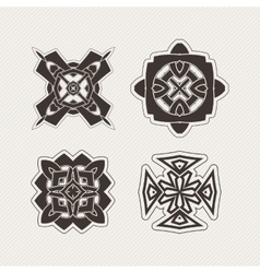 Set of mandala symbols gothic lace tattoo vector