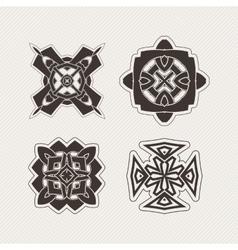 Set of mandala symbols gothic lace tattoo vector
