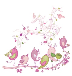 singing birds vector image