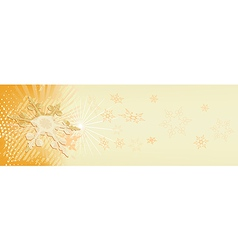 snowy banner vector image vector image