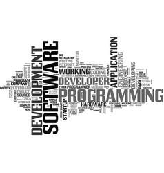 Software word cloud concept vector