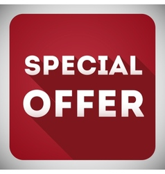 Special offer flat design icon for your business vector image