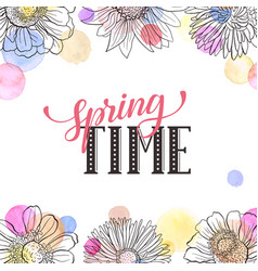 spring time greeting card vector image vector image