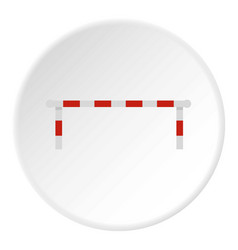 Striped barrier icon circle vector