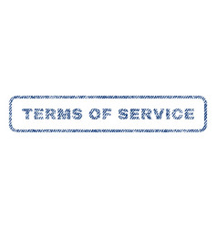 Terms of service textile stamp vector