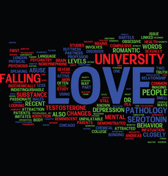 The pathology of love text background word cloud vector