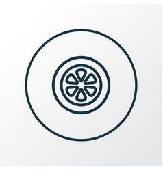 tie icon line symbol premium quality isolated vector image