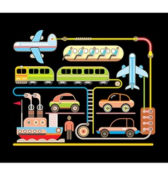 transport vector image