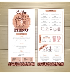 Vintage coffee menu design vector