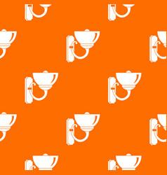Wall lamp pattern seamless vector