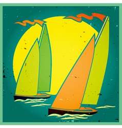 yachting vector image