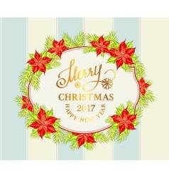 Christmas mistletoe garland vector image