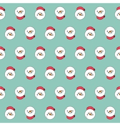Snowman seamless pattern christmas background vector