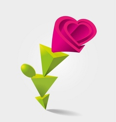 Flower shaped vector