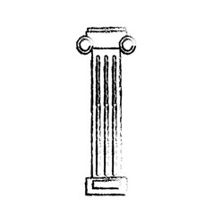 Column pilaster sketch vector