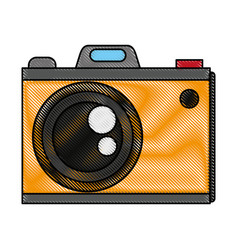 Color blurred stripe analog camera with flash vector