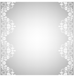 Background with white lace vector image