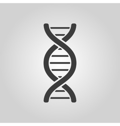 The dna icon dna symbol flat vector