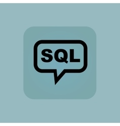Pale blue sql message icon vector