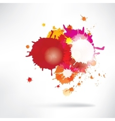 Abstract background with splash vector