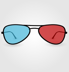 Realistic 3d anaglyph glasses vector