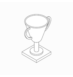 Trophy cup icon isometric 3d style vector