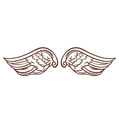 A simple sketch of an angels wings vector image vector image