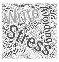 Avoiding stress word cloud concept vector