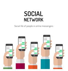 banner social networks vector image vector image