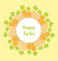 card with easter carrot vector image