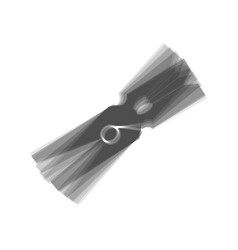 Clothes peg sign gray icon shaked at vector