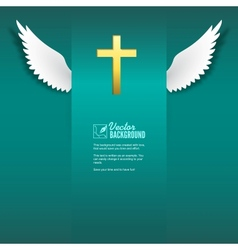 cross and wings vector image vector image