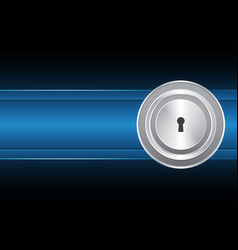 Cyber security keyhole lock circle vector