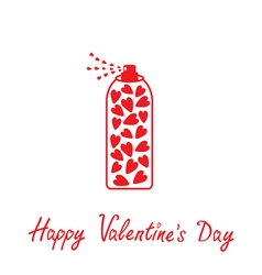 Deodorant spray with hearts inside happy valentine vector