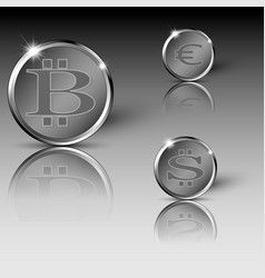 Different currency coins vector