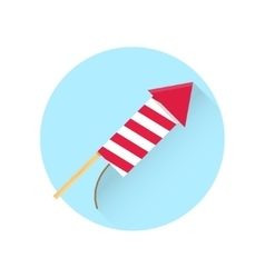 Firework red rocket icon vector