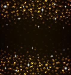 Golden glow vector