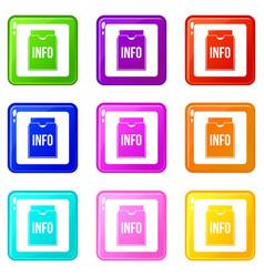 info folder set 9 vector image