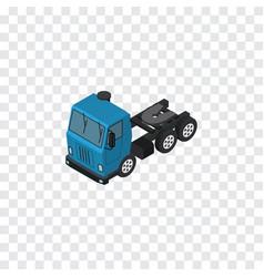 Isolated lorry isometric truck element c vector