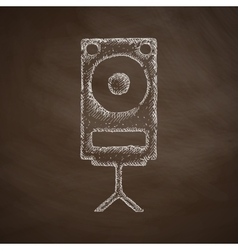 Large audio speaker icon vector
