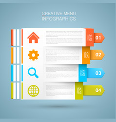 list of options vector image