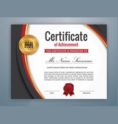 multipurpose modern professional certificate vector image vector image
