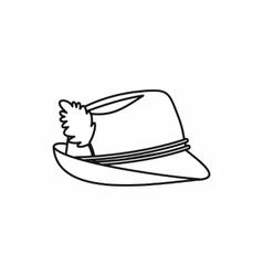 Oktoberfest tirol hat icon outline style vector