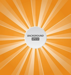 orange rays background vector image vector image